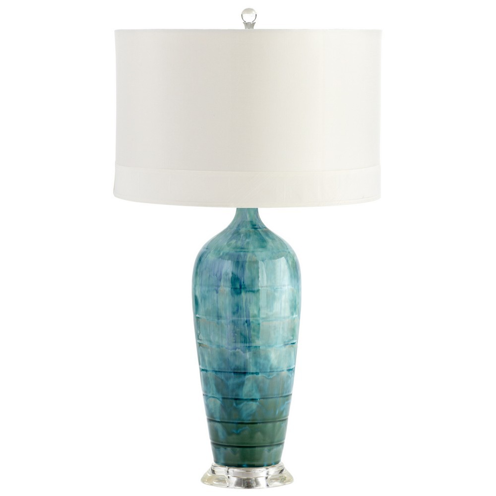 blue table lamps photo - 7
