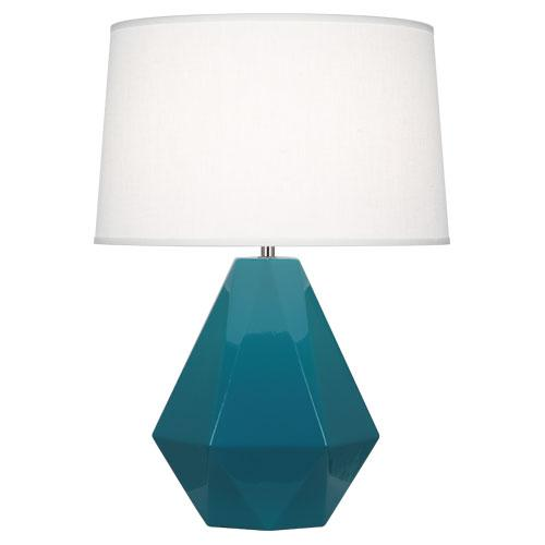 blue table lamps photo - 8