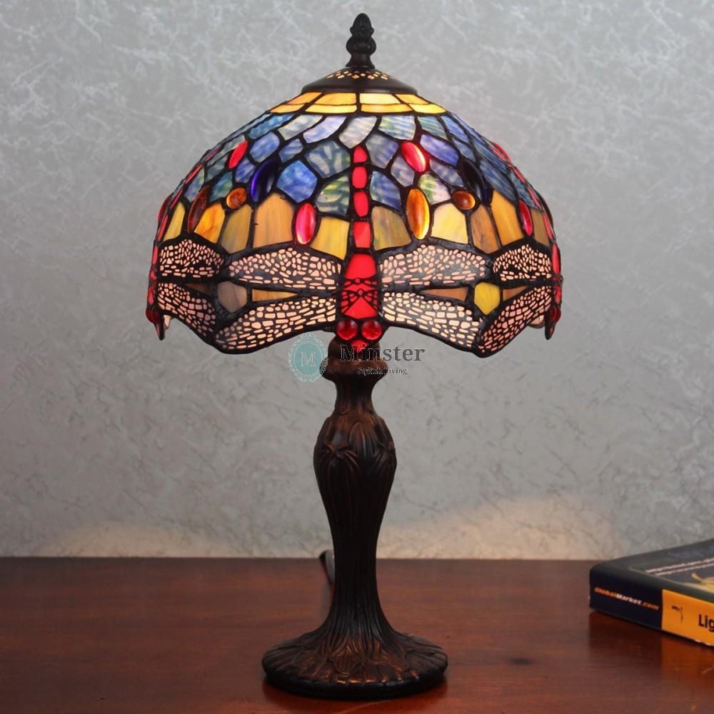 blue tiffany lamp photo - 10