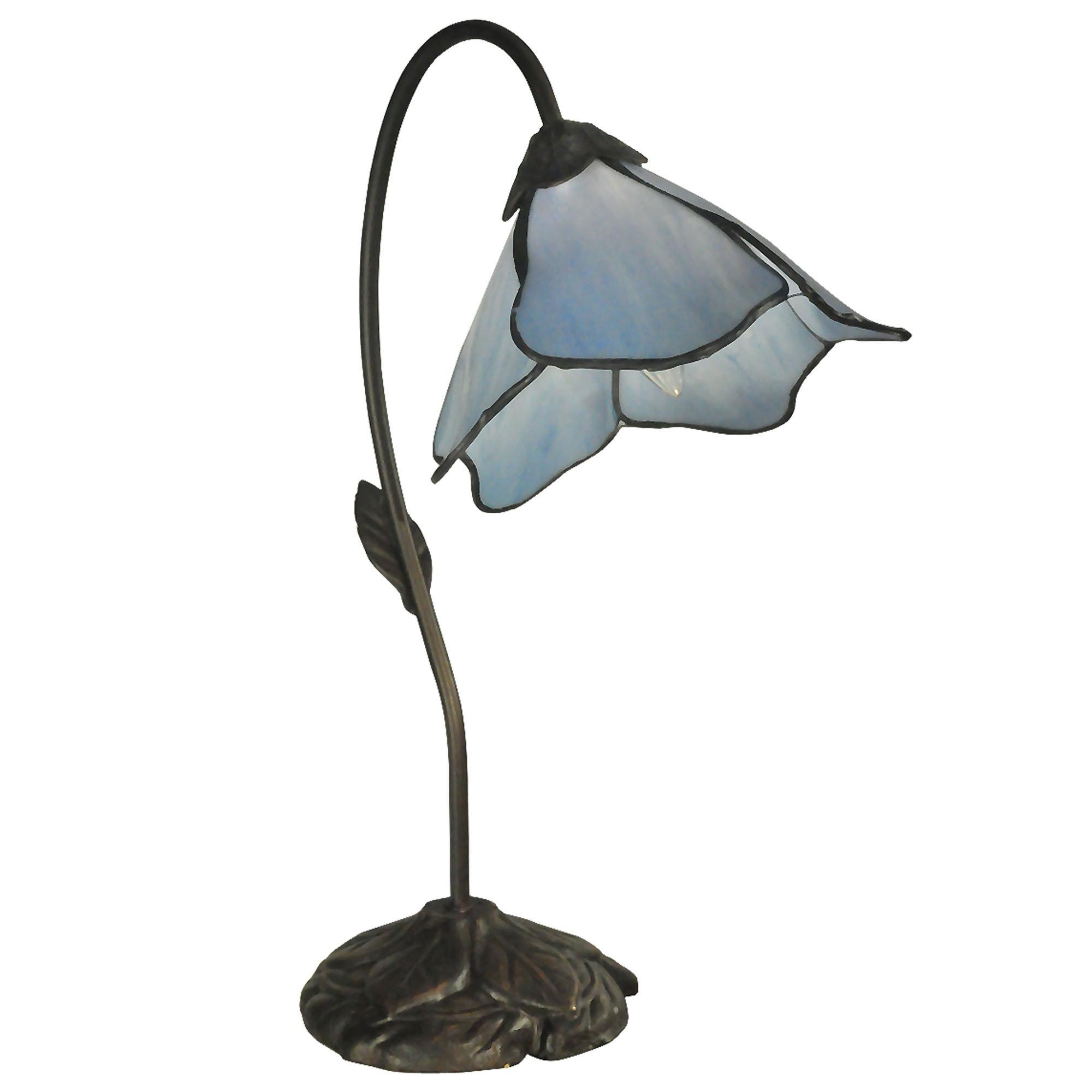 blue tiffany lamp photo - 7