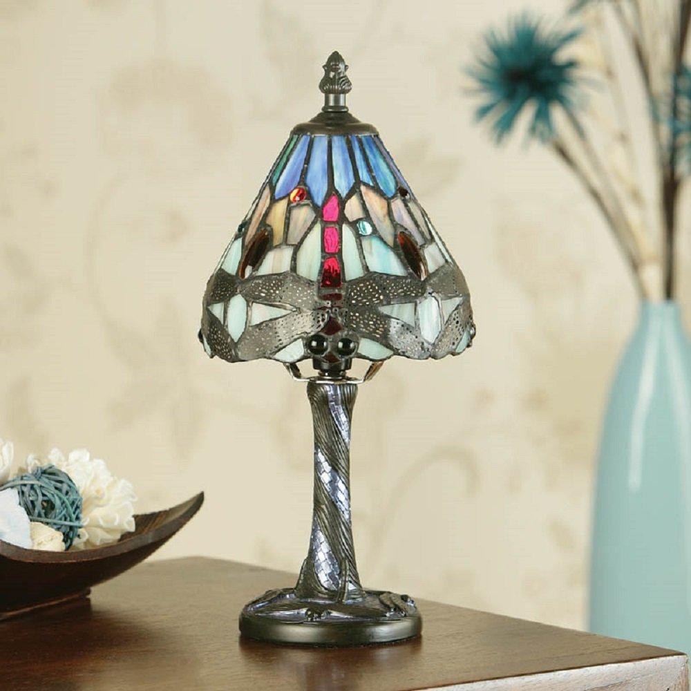 blue tiffany lamp photo - 8