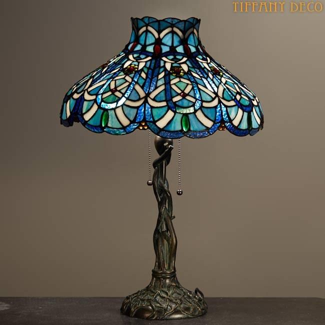 blue tiffany lamp photo - 9