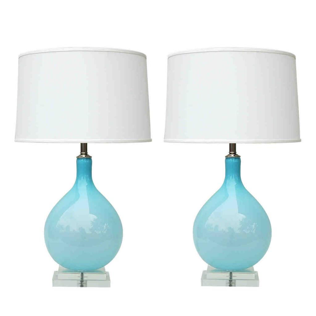 blue white lamp photo - 1