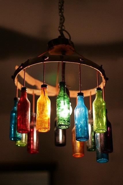 bottle lamps photo - 2