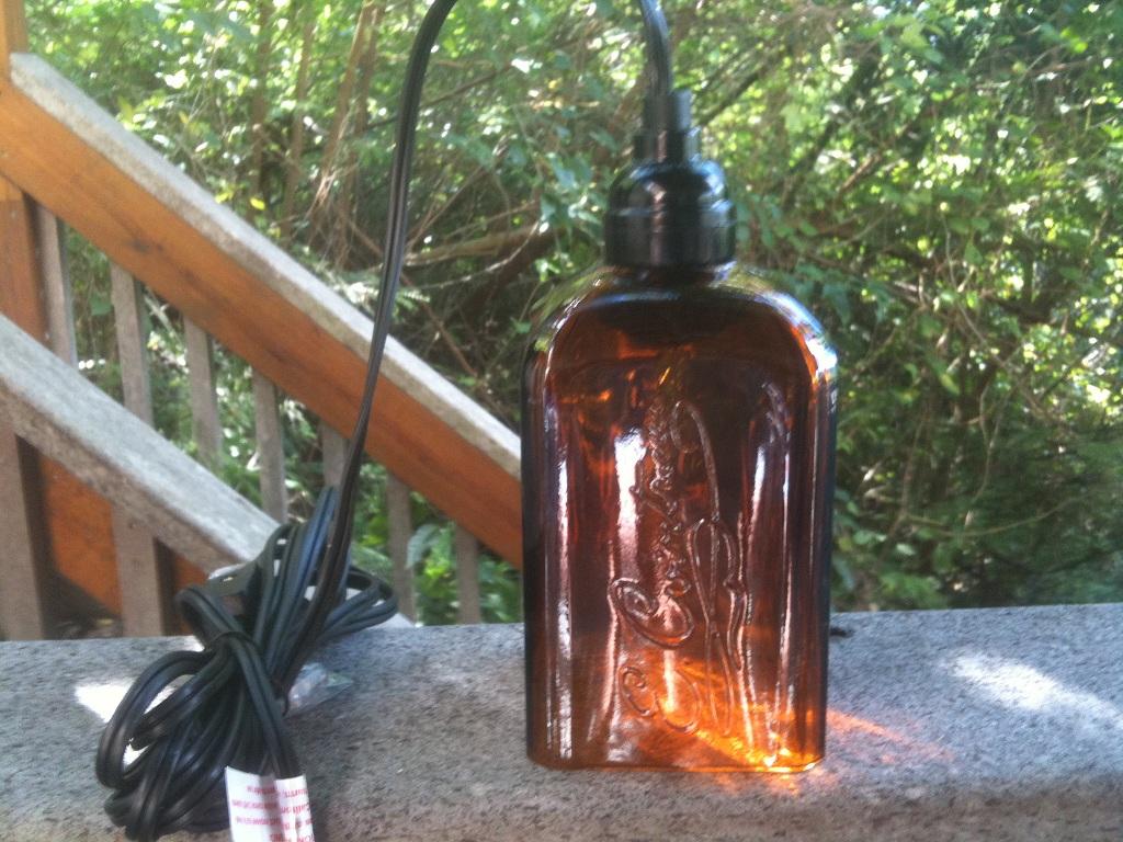 bottle lamps photo - 9