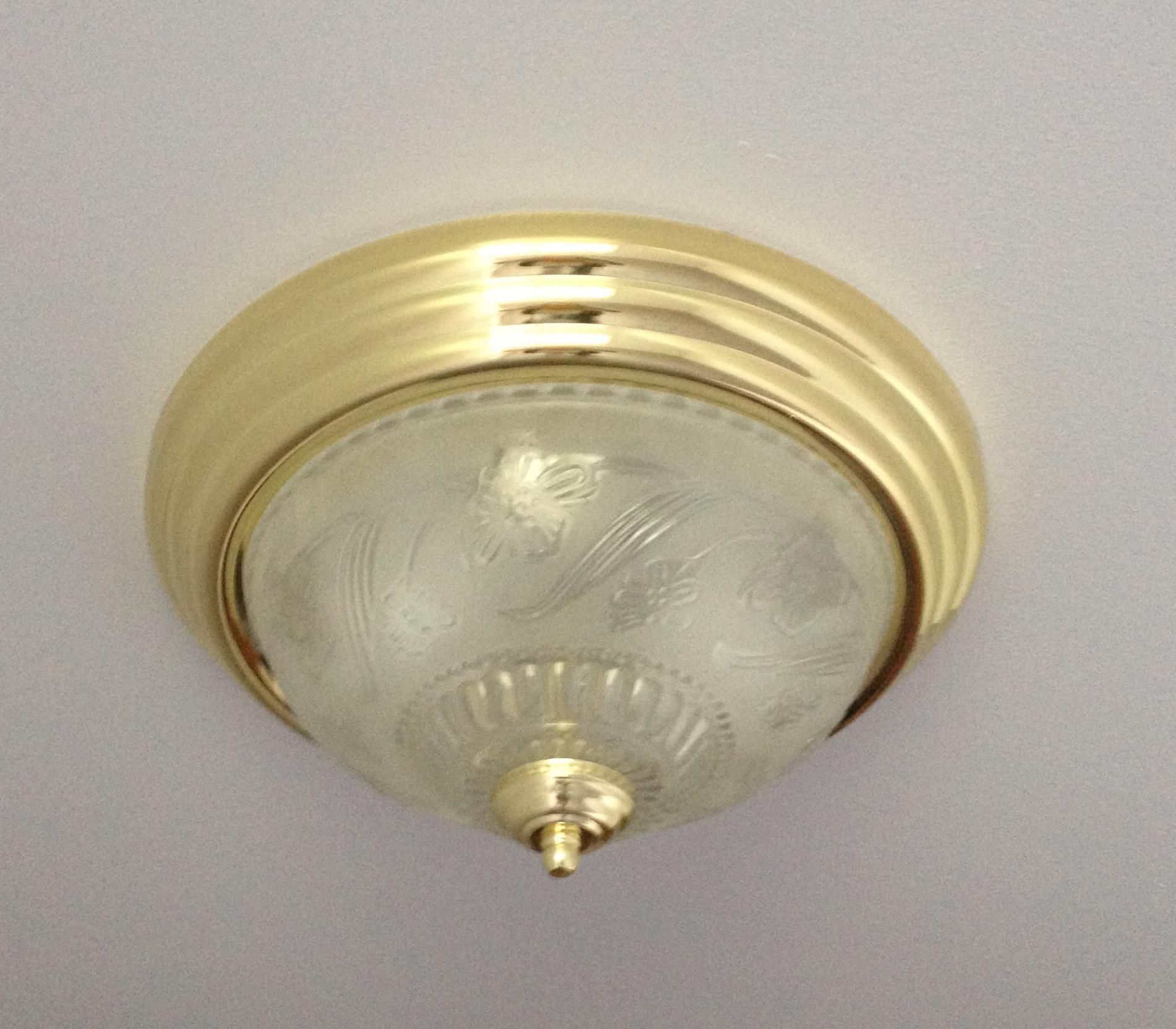 brass bathroom wall lights photo - 2