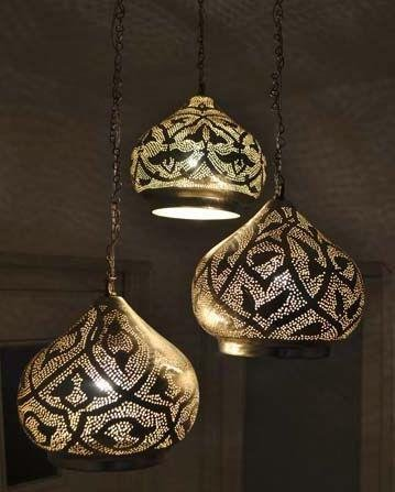 brass ceiling lights modern photo - 1