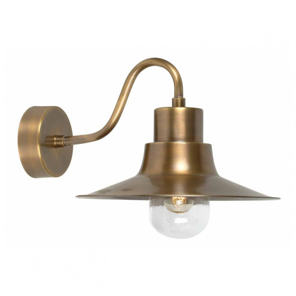 brass outdoor wall lights photo - 1
