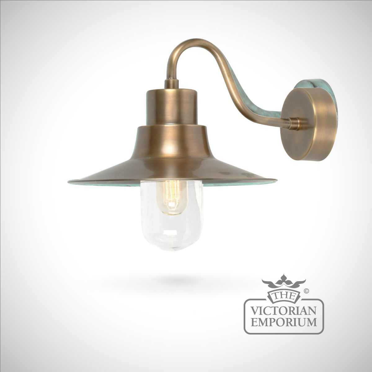 brass outdoor wall lights photo - 2
