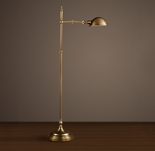 brass pharmacy floor lamp photo - 2