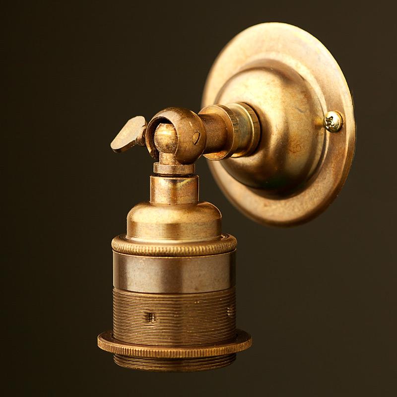 brass wall light fittings photo - 2