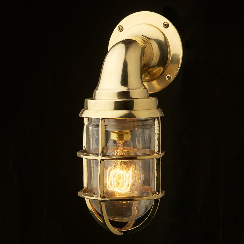 brass wall light fittings photo - 3