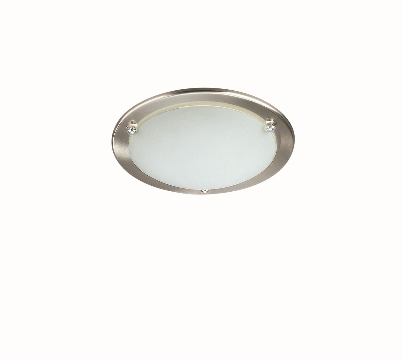 brushed chrome ceiling lights photo - 4