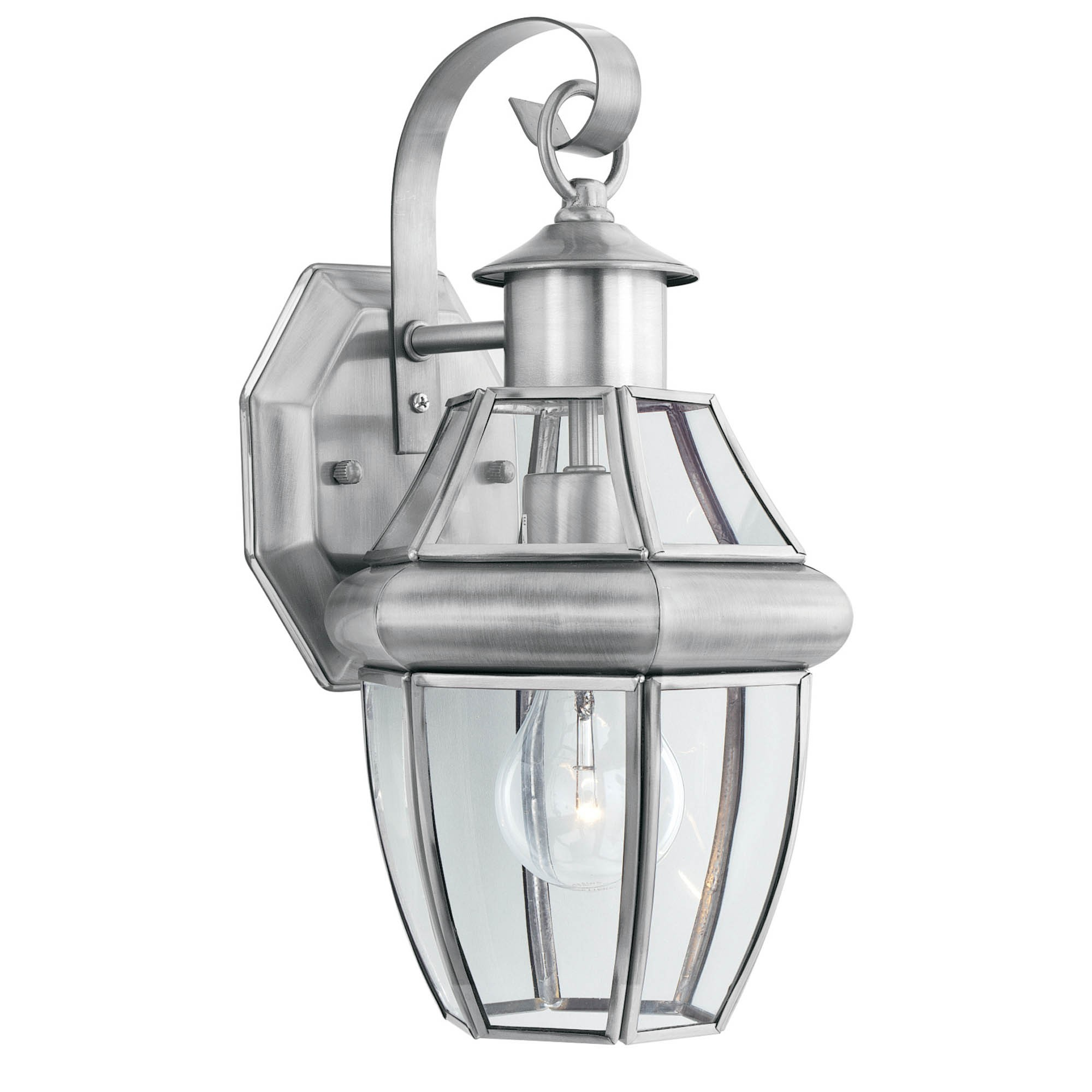 Replace Landscape Lighting Fixtures : Reasons to install brushed nickel outdoor lights