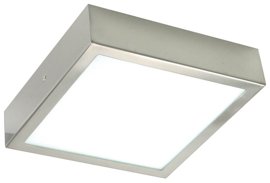 brushed steel ceiling lights photo - 1