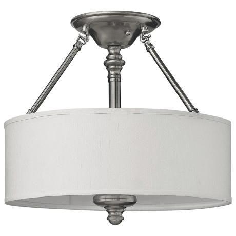 brushed steel ceiling lights photo - 10