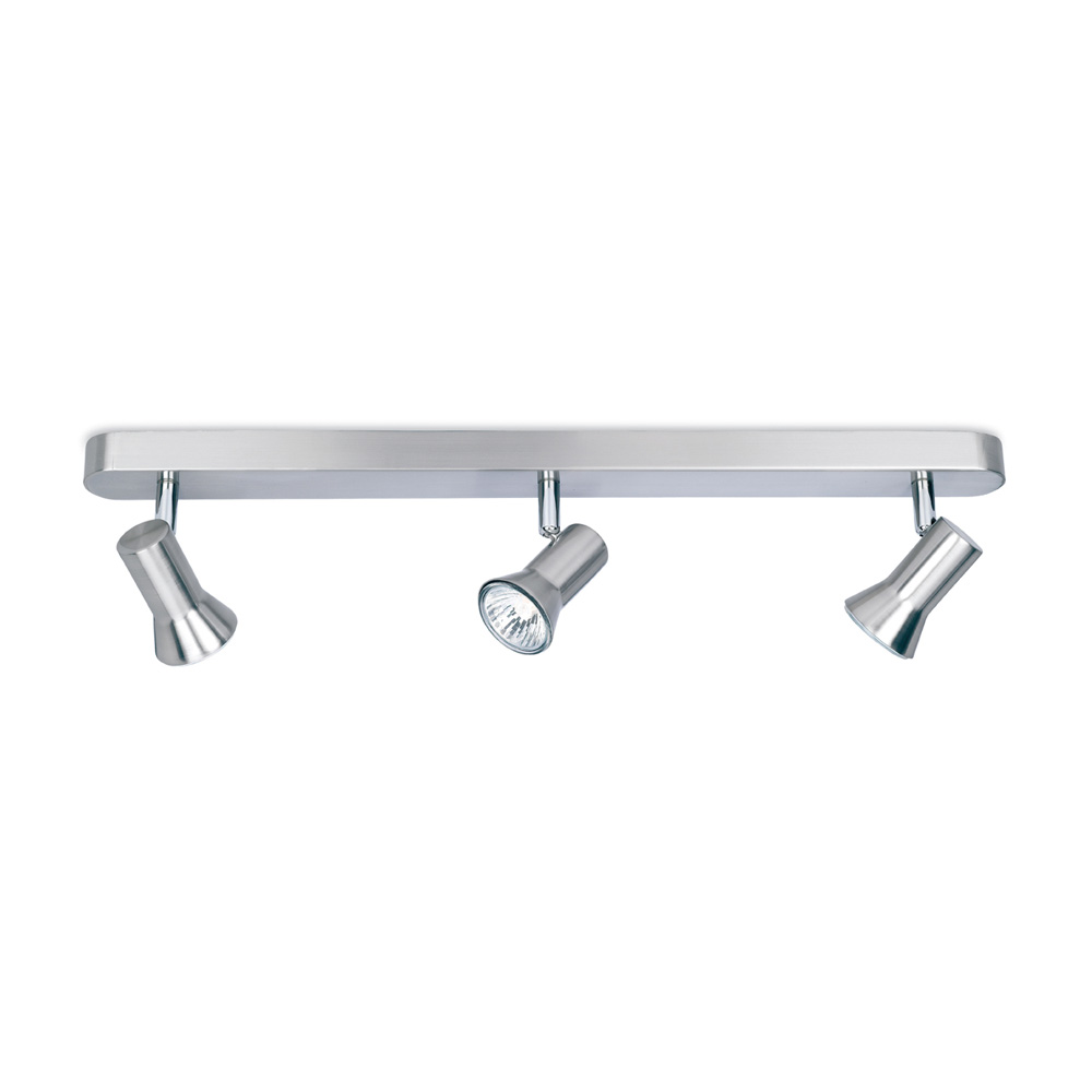brushed steel ceiling lights photo - 2