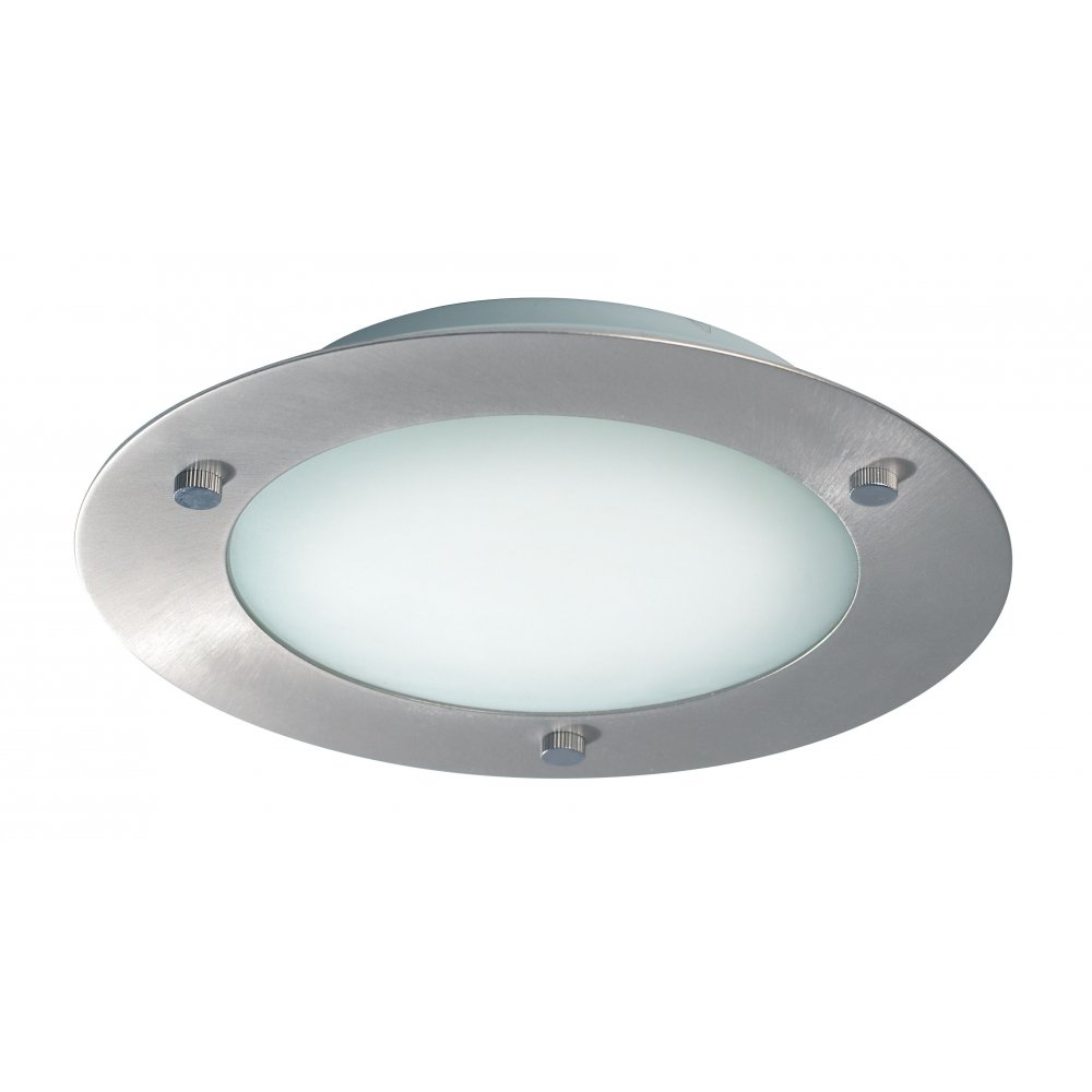 brushed steel ceiling lights photo - 3