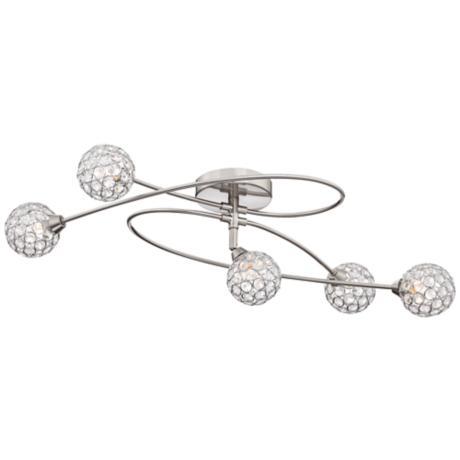 brushed steel ceiling lights photo - 4