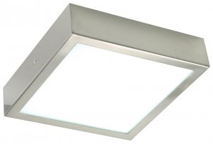 brushed steel ceiling lights photo - 5