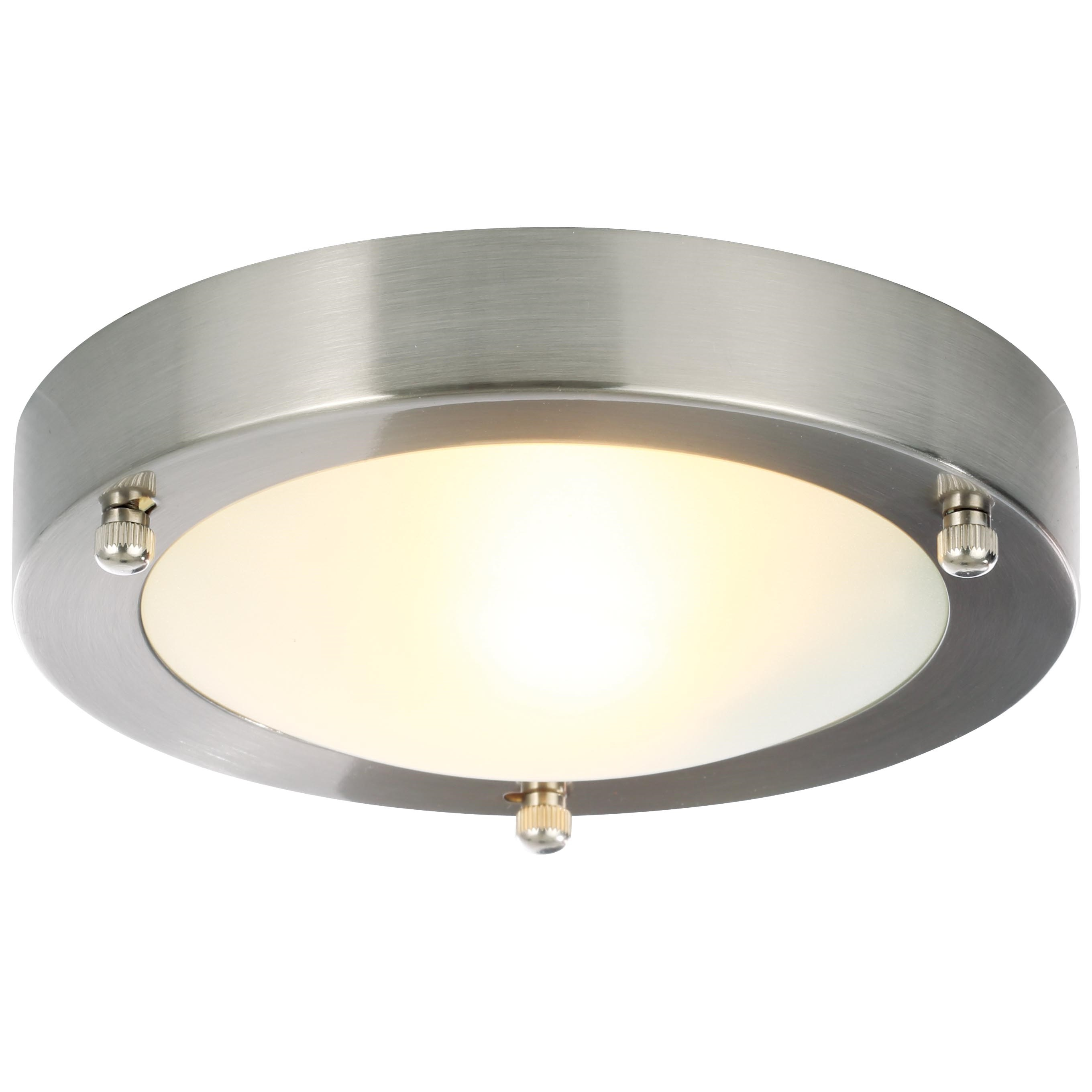 brushed steel ceiling lights photo - 6