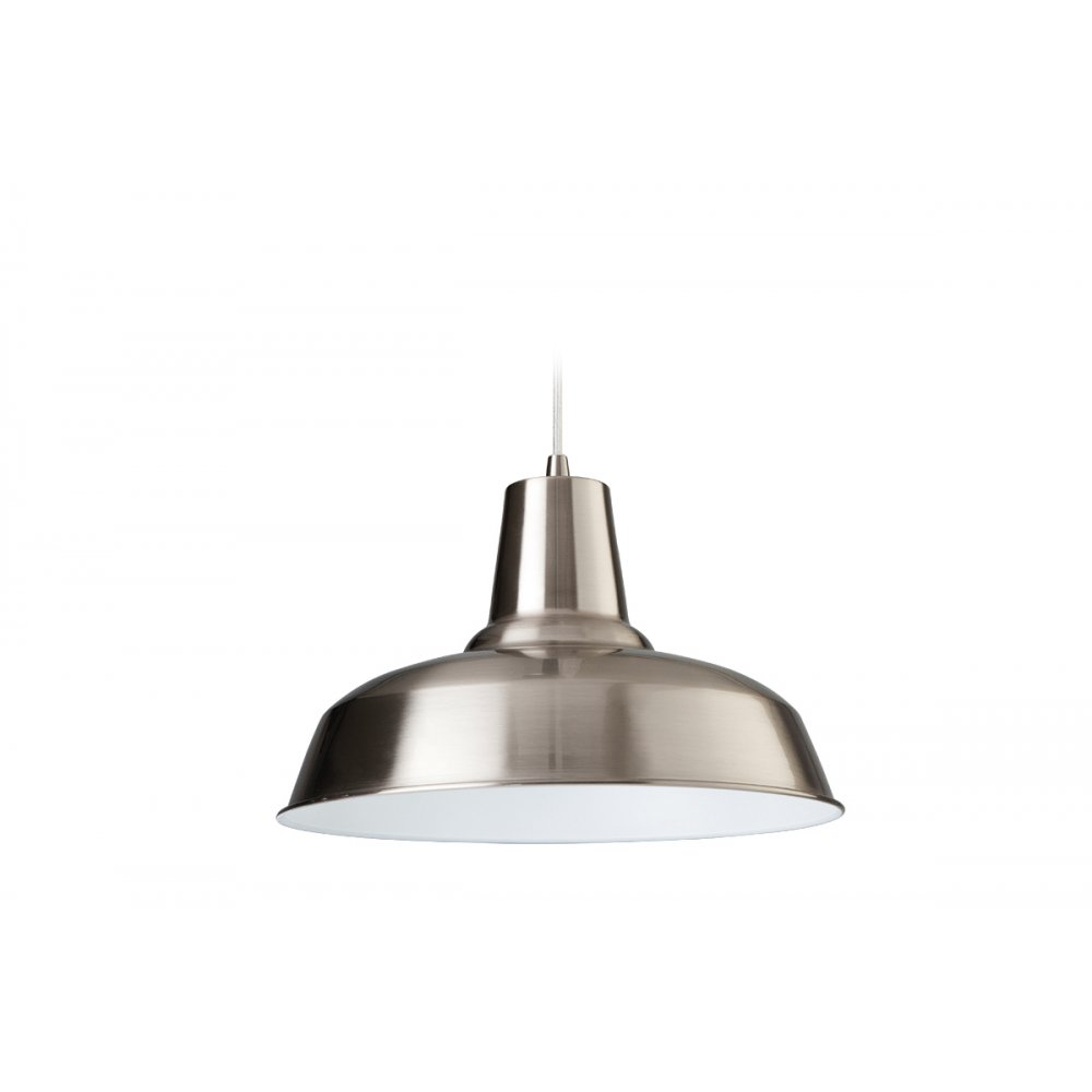 brushed steel ceiling lights photo - 7