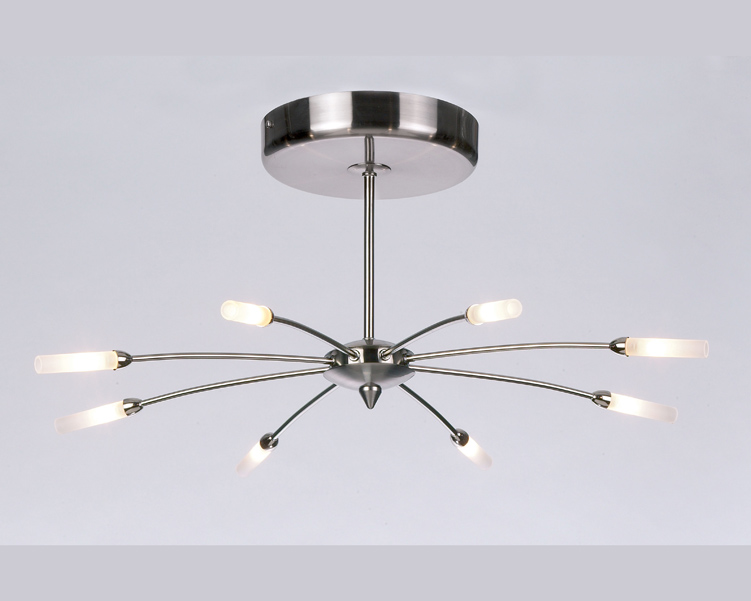 brushed steel ceiling lights photo - 8