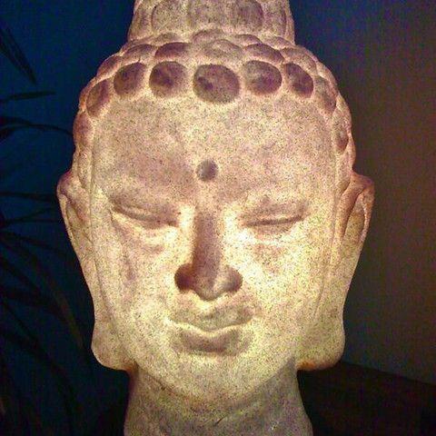 buddha head lamp photo - 10