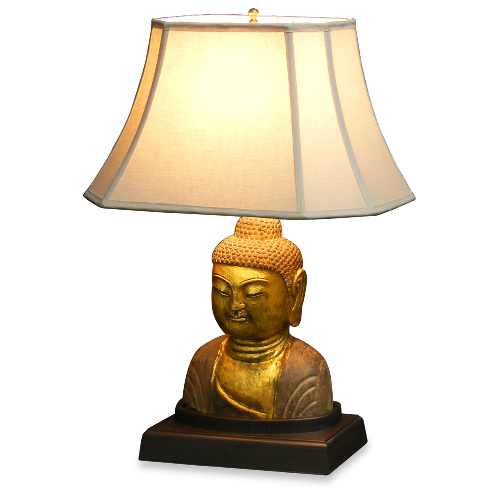 buddha head lamp photo - 2