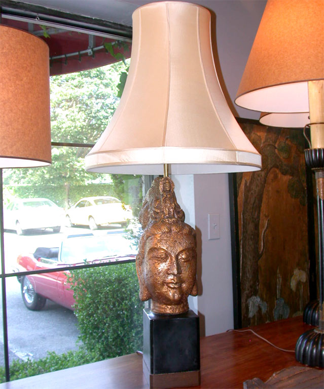 buddha head lamp photo - 6