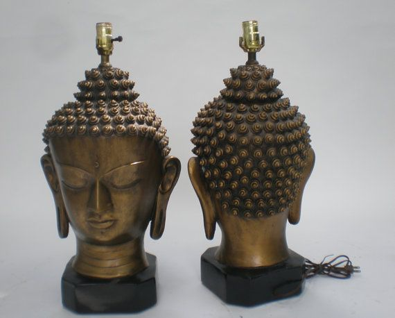 buddha head lamp photo - 9