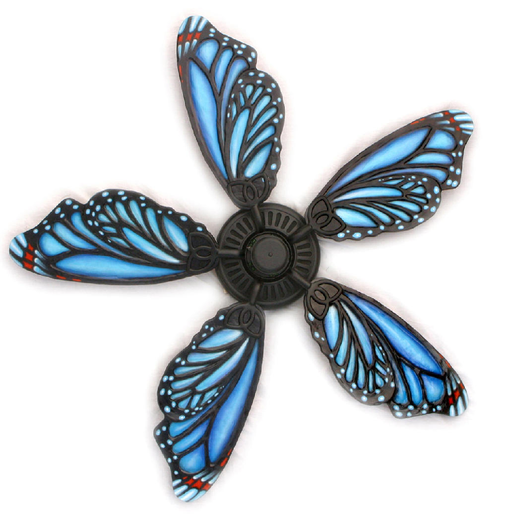butterfly ceiling fan photo - 5