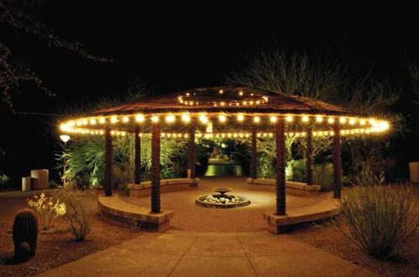 cafe string lights outdoor photo - 6