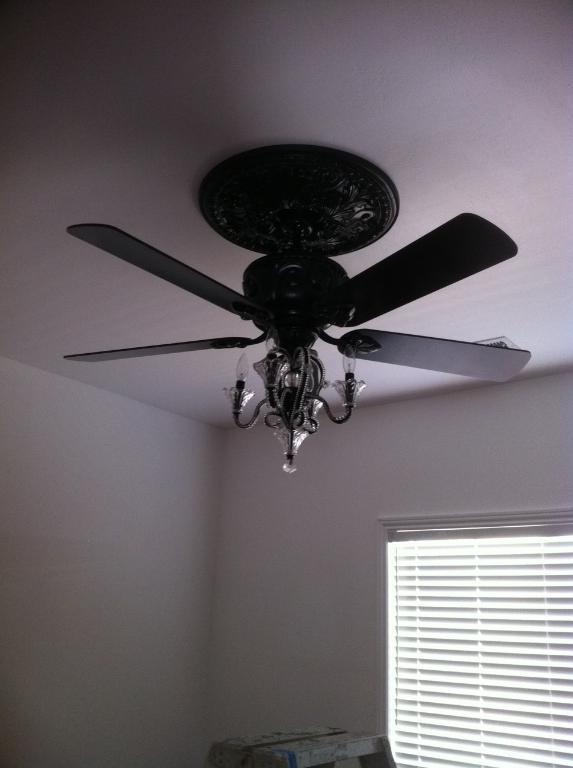 candelabra ceiling fan photo - 2