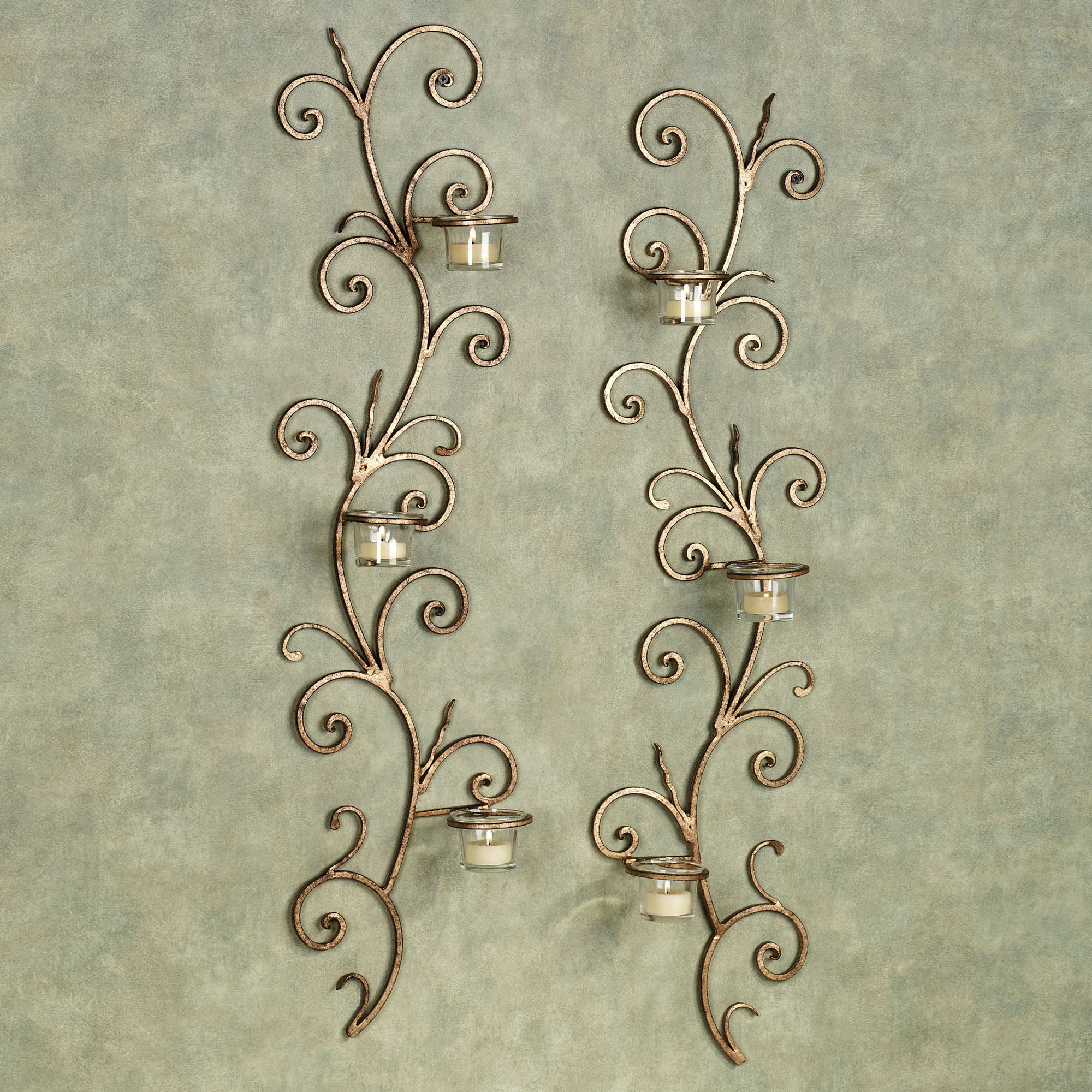 candle light wall sconces photo - 3