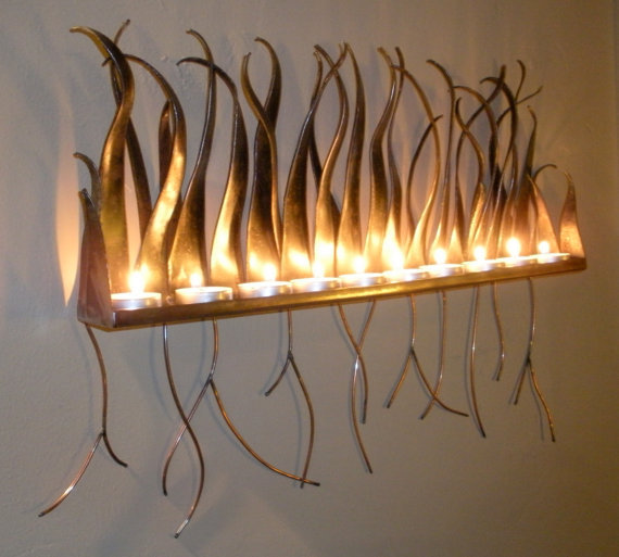 candle light wall sconces photo - 4