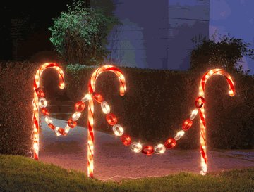 candy cane outdoor lights photo - 1