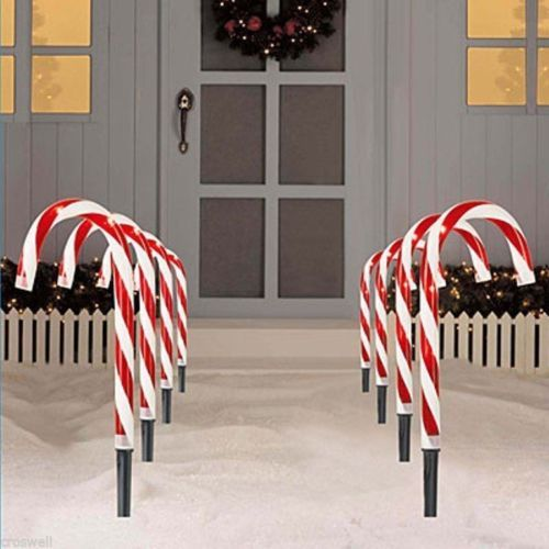candy cane outdoor lights photo - 5