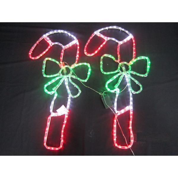 candy cane outdoor lights photo - 6