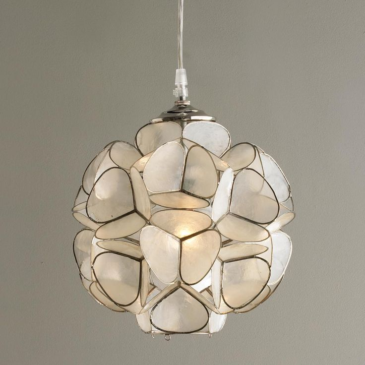 capiz shell ceiling light photo - 1