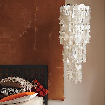 capiz shell ceiling light photo - 2