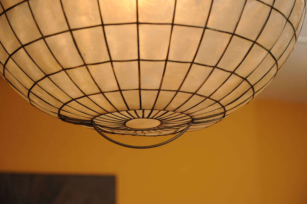 capiz shell ceiling light photo - 3