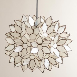 capiz shell ceiling light photo - 5