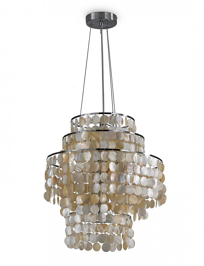 capiz shell ceiling light photo - 7