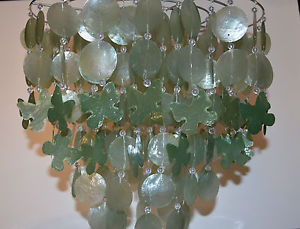 capiz shell ceiling light photo - 8