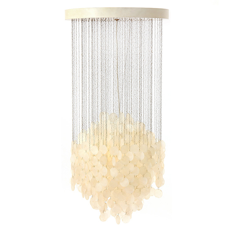 capiz shell ceiling light photo - 9