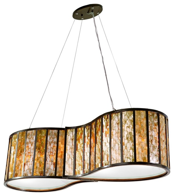 capiz shell lamps photo - 9