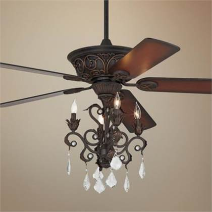 ceiling fan and chandelier photo - 1