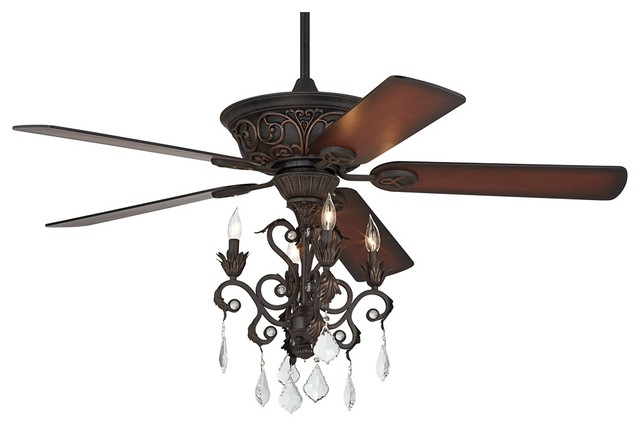 ceiling fan and chandelier photo - 10