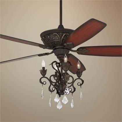 Ceiling fan and chandelier – Fan with Chandelier